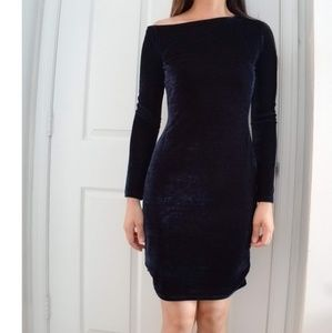 Reiss Xeni LS Midnight Blue Dress Size 4 NEW